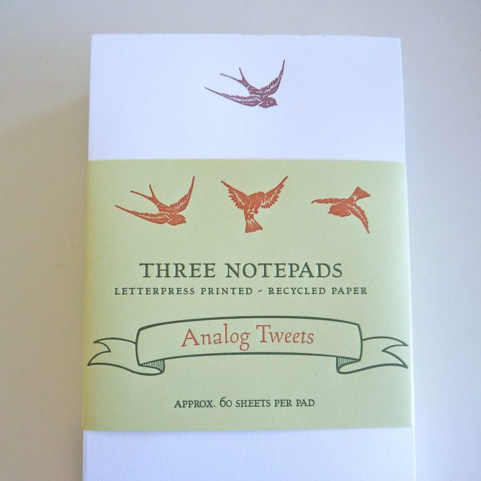 Set of notepads with band wrapper