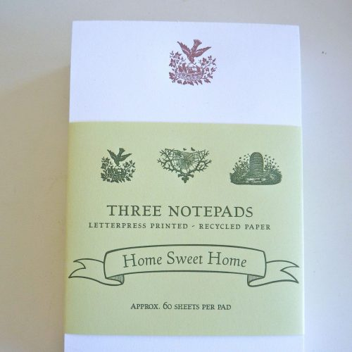 Set of three notepads with band wrapper