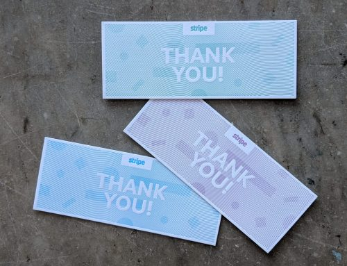 Stripe Thank You Cards