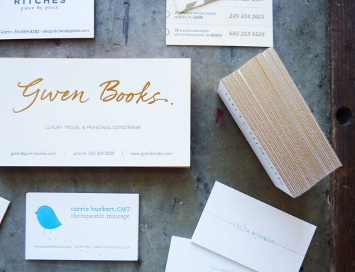 Business cards with metallic inks