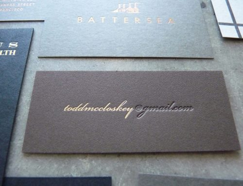 Business cards on non-white neutrals
