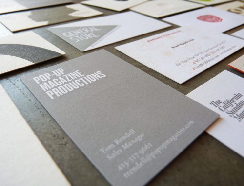 Business cards with solids