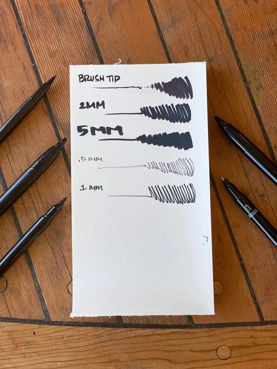 The Ink Works black pen set